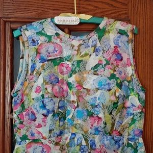 Vintage Gottlieb Armao NY Floorlength Floral Dress